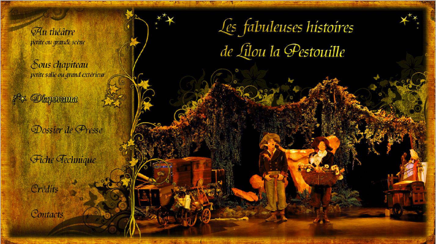 Menus Du DVD Spectacle Les Fabuleuses Aventures De Lilou La Pestouille Compagnie